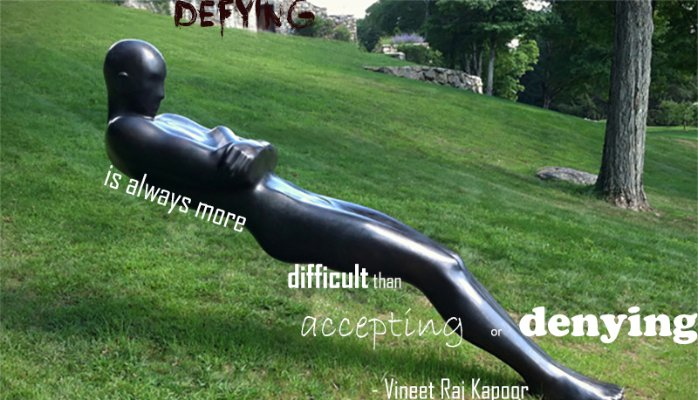 Defying is more difficult than accepting or denying - Vineet Raj Kapoor