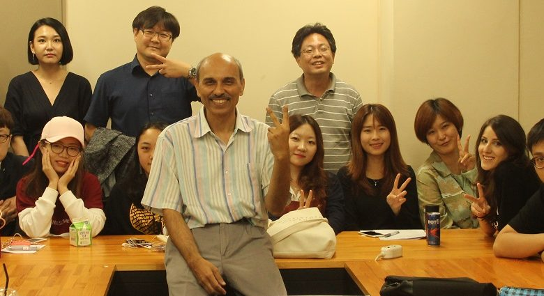 International Seminar on Film Making with focus on Bollywood by Vineet Raj kapoor, Dean, Chitkara University at Konkuk University, Seoul