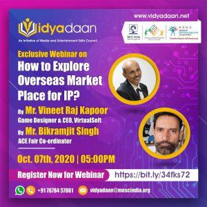MESC How to Explore Overseas Market Places for IP Speaker Vineet Raj Kapoor SXILL chandigarh design school