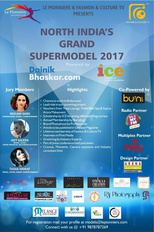 North India's Grand SuperModel 2017