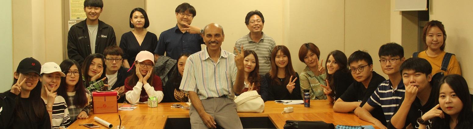 International Seminar on Film Making with focus on Bollywood by Vineet Raj kapoor, Dean, Chitkara University at Konkuk University, Seoul
